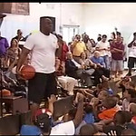 MAGIC JOHNSON JEFFREY OSBORNE PAT RILEY At The Fox Point Boys Girls Club AUGUST 13 2012