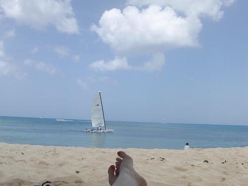 happy cozumel beach toes.