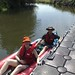 Suw and me in our inflatable kayak by Kevglobal
