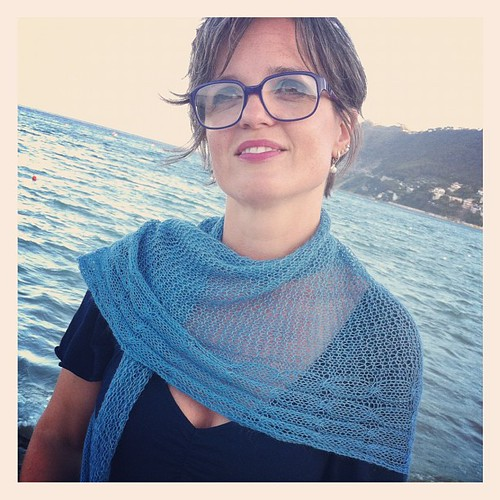 The Kty Shawl in Fine Lace:))  Lo scialle Kty con il Fine Lace:))