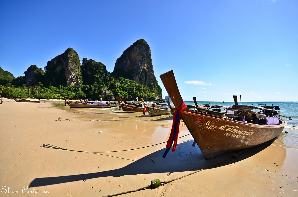 Longtails on Railay West beach