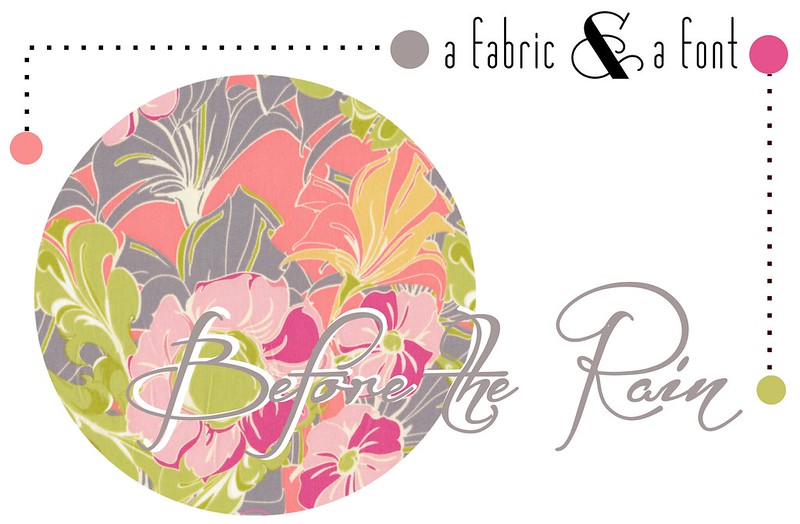 A Fabric & A Font Party Decor Inspiration: Before the Rain + Tina Givens Pagoda Lullaby Tutty Celery