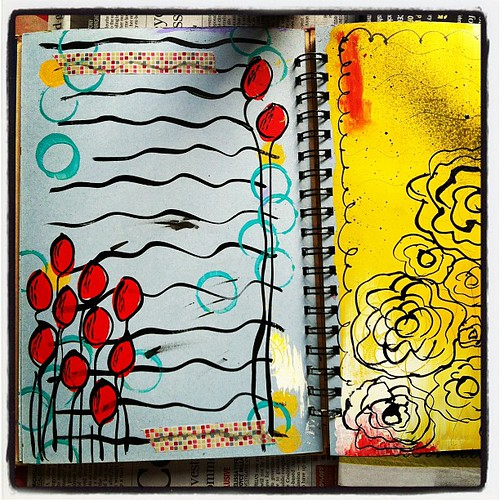 Exploring some art journaling this weekend. Thanks for the inspiration @ravenink