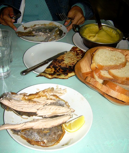 Fish, kaygana, and kuymak -- Trabzon specialties by bryandkeith on flickr