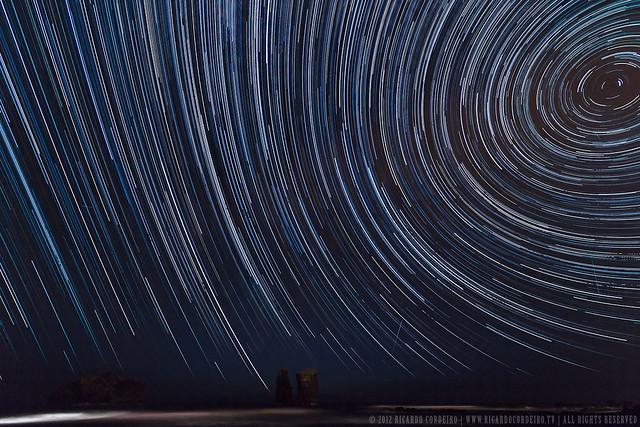 Star trails #1 - Mosteiros islets