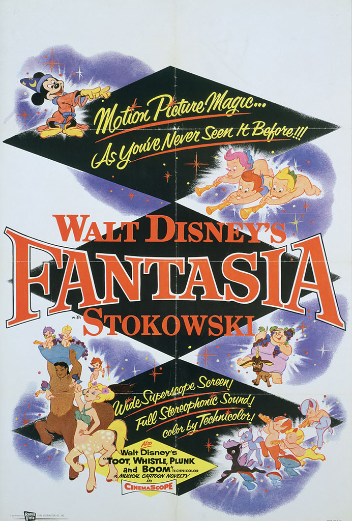 This is from the 1956 release. The characters look similar to the 40's poster, but the design elements have moved forward in time.
