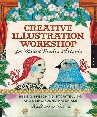 Creative Illustration workshop for mixed media artists book cover