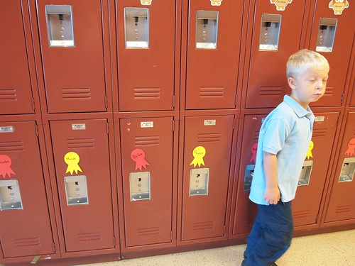 not wanting to pose in front of his locker