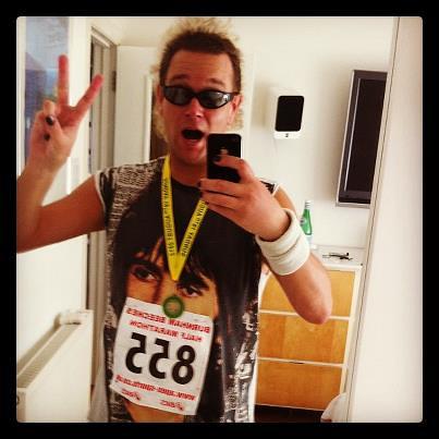 John B, Burnham Half Marathon, August 2012