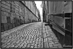 Well worn cobblestone walkways & alleys are the norm on Gamla Stan