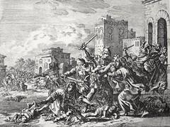 Phillip Medhurst presents Bowyer Bible Gospels print 3486 The slaughter of the innocents Matthew 2:16 Jan Luyken