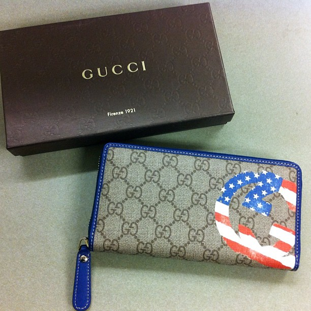 Love my new patriotic wallet from @Gucci GG Flag Collection. My mommy bought it for me. #olympics