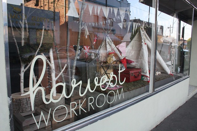 Window installation at Harvest Workroom by Leila Sanderson