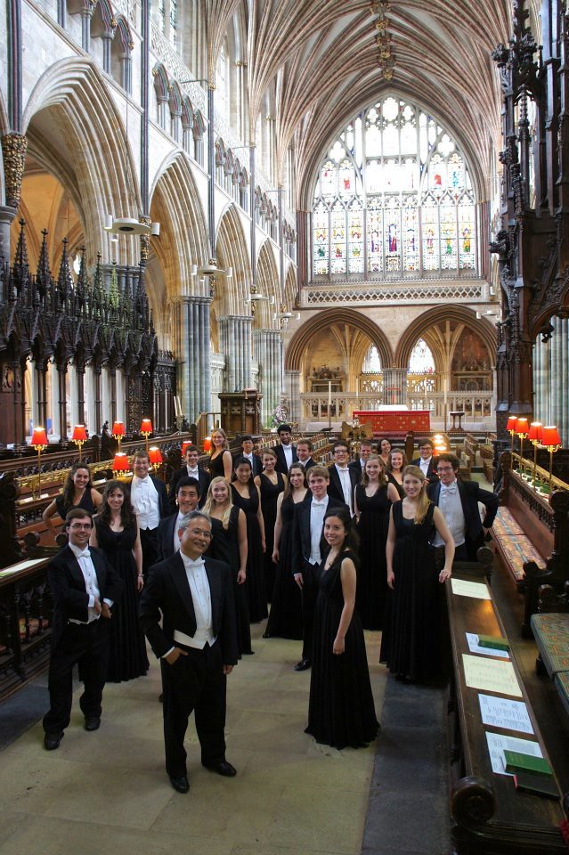 Stanford University Chamber Chorale in Exeter Cathedral in England