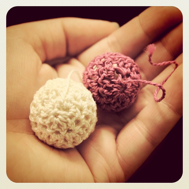I made some crocheted beads :)