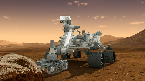 A rendering of the Curiousity rover. Image courtesy of 