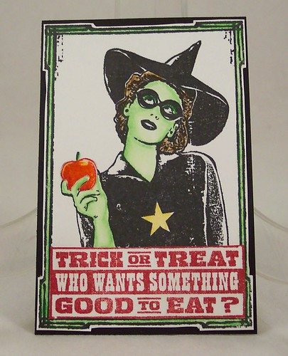 Green Witch Art Card