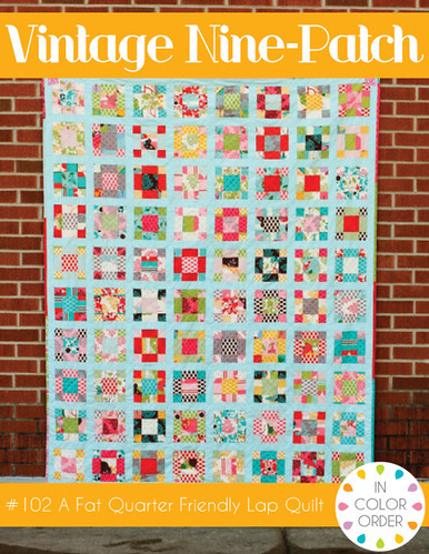 Vintage Nine-Patch Quilt Pattern by Jeni Baker