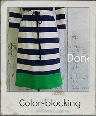 how to lengthen with color-blocking