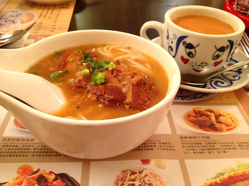 shui wah pork rib soup & milk tea
