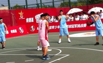 August 13th, 2012 - Jeremy Lin films a KFC China commercial in Shanghai