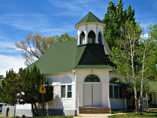 sky church architecture colorado stainedglass smalltown architecturaldetails nucla