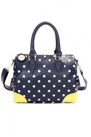 elegant-dots-printing-handbag-with-contrast-color-corners