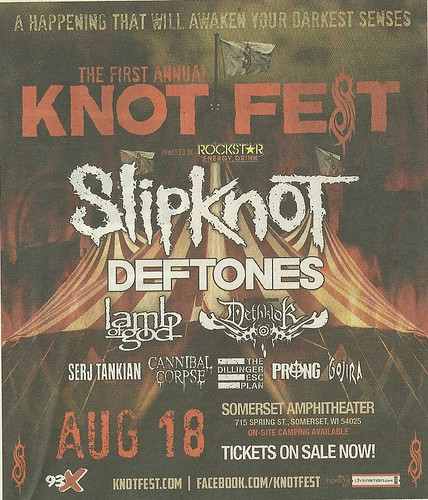 08/18/12 Knotfest 2012 @ Somerset Amphitheater, Somerset, WI