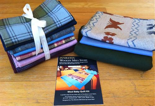 Pendleton wool FQ set + quilt kit