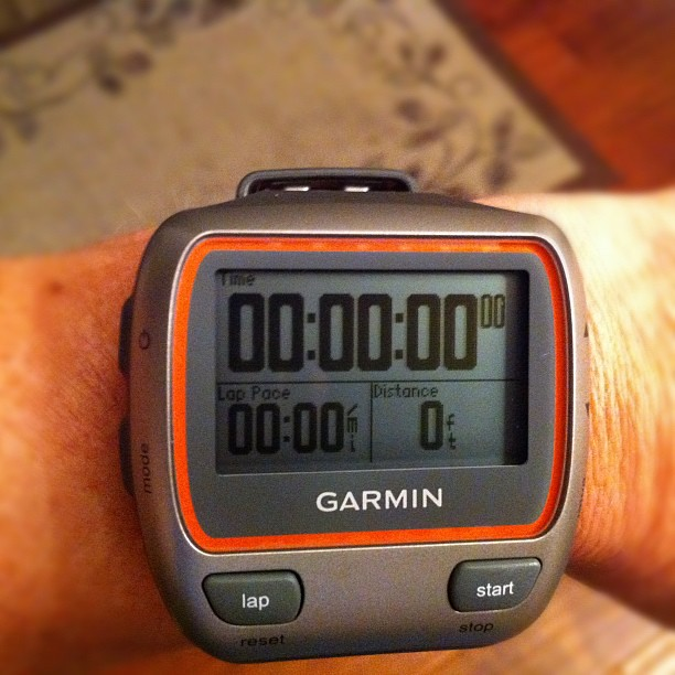 My new BFF, the Garmin 310 XT. Unfortunately, my 305 went to the running gps graveyard. #running