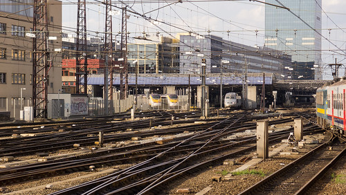 Brussels, railway near Brussels South station