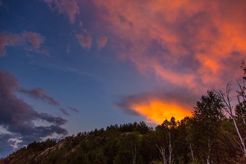 trees sunset ontario canada clouds sudbury psunset lakelaurentain