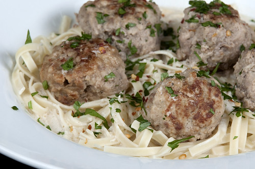 Horseradish & Beer Meatballs