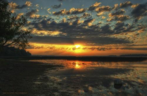 sky sun lake reflection clouds sunrise reeds landscape shoreline hdr clearlakeia northerniowa mcintoshwoodsstatepark