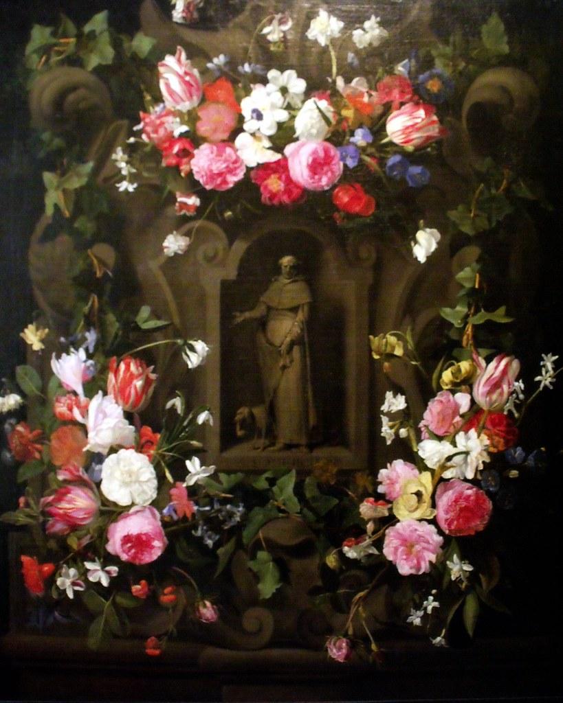 Daniel seghers guirlandes de fleurs avec saint dominique a photo on flickr - Guirlandes de fleurs ...