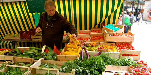 Paris fruit and vegetables