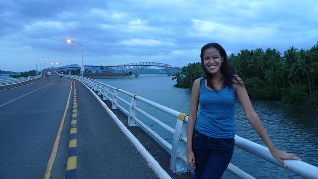At the San Juanico Bridge - Connecting Leyte and Samar