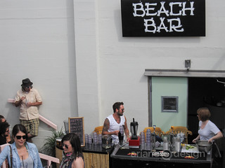 Waldorf Hotel Food Cart Festival beach bar