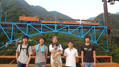 20120825トロッコ電車@宇奈月駅