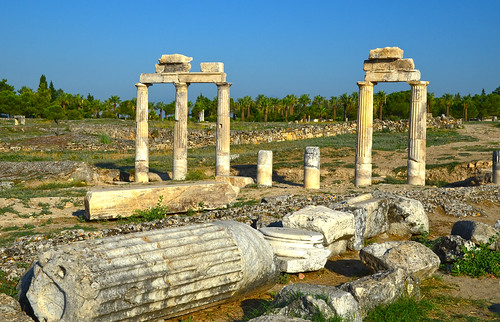 Hierapolis ruins on the top of Pamukkale