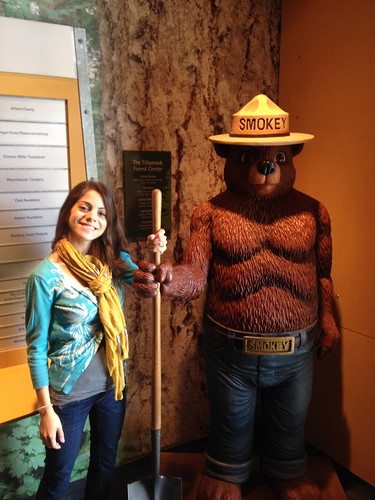 Me and Smokey the Bear!