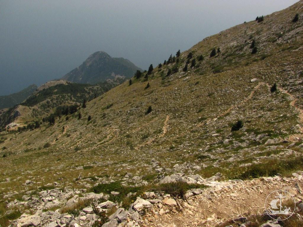 На полпути от Панагии до вершины