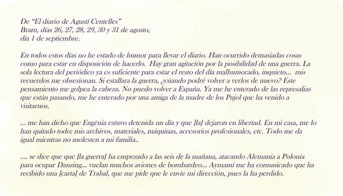 """De """"El diario de Agustí Centelles"""", finales de agosto-principios de septiembre de 1939. by Octavi Centelles"""