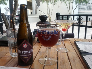 Westmalle Dubbel and La Parisienne, Brasserie Belge, Sarasota, FL