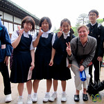 Audrey with Japanese School Kida - Nijo Castle, Kyoto