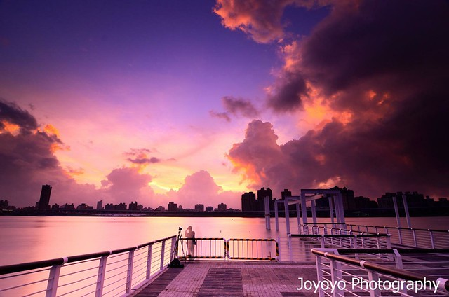 日落雲彩 大稻埕碼頭