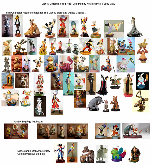 Disney Character Big Figs Designed by Kevin & Jody