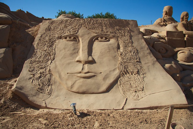 Jim Morrison sand sculpture