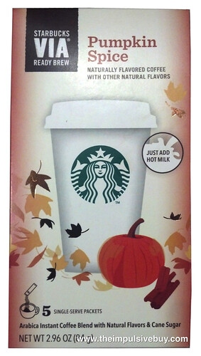 Starbucks VIA Ready Brew Pumpkin Spice