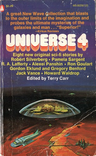 Universe 4. Edited by Terry Carr. Popular Library 1974. Cover artist Jack Faragasso